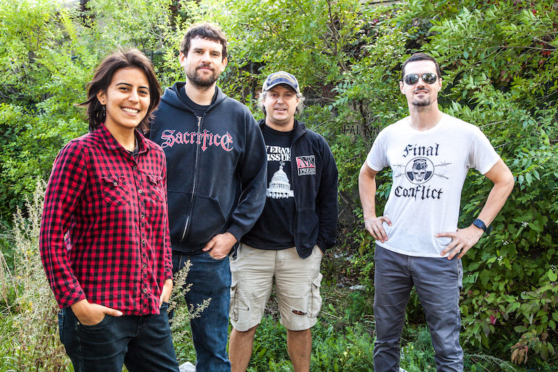 Propagandhi in their jam space, September 18, 2015
