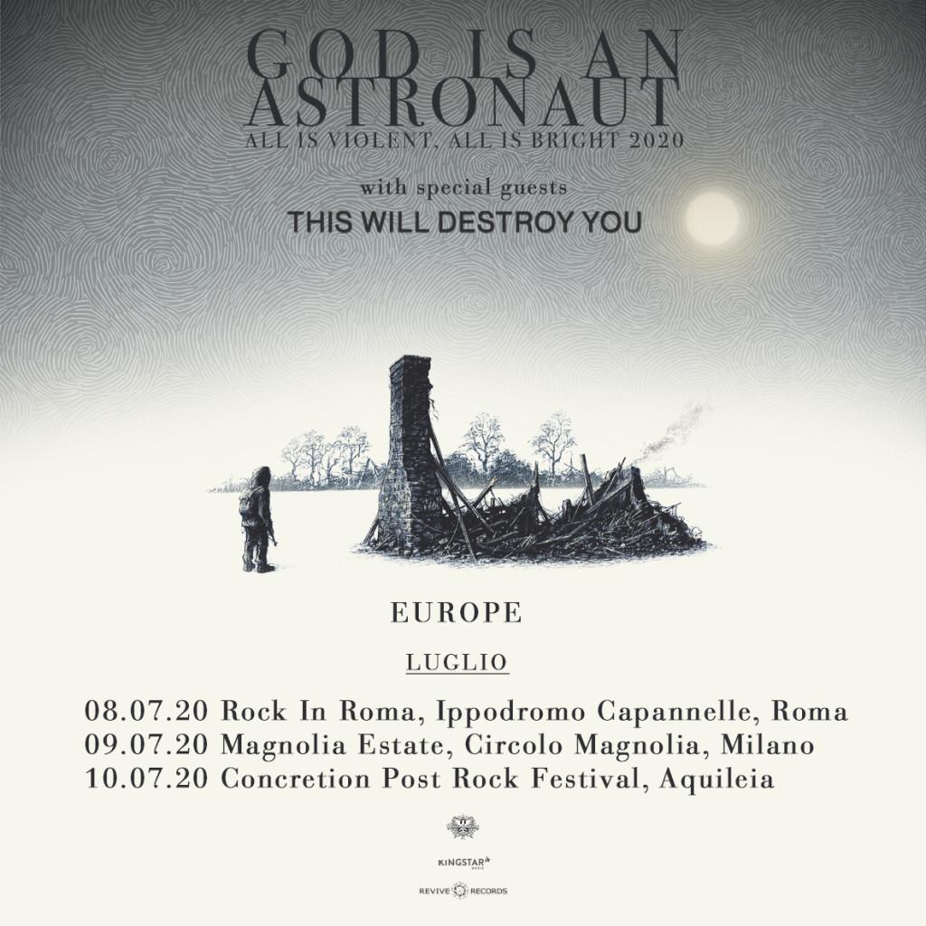 GOD IS AN ASTRONAUT - Tour a Luglio