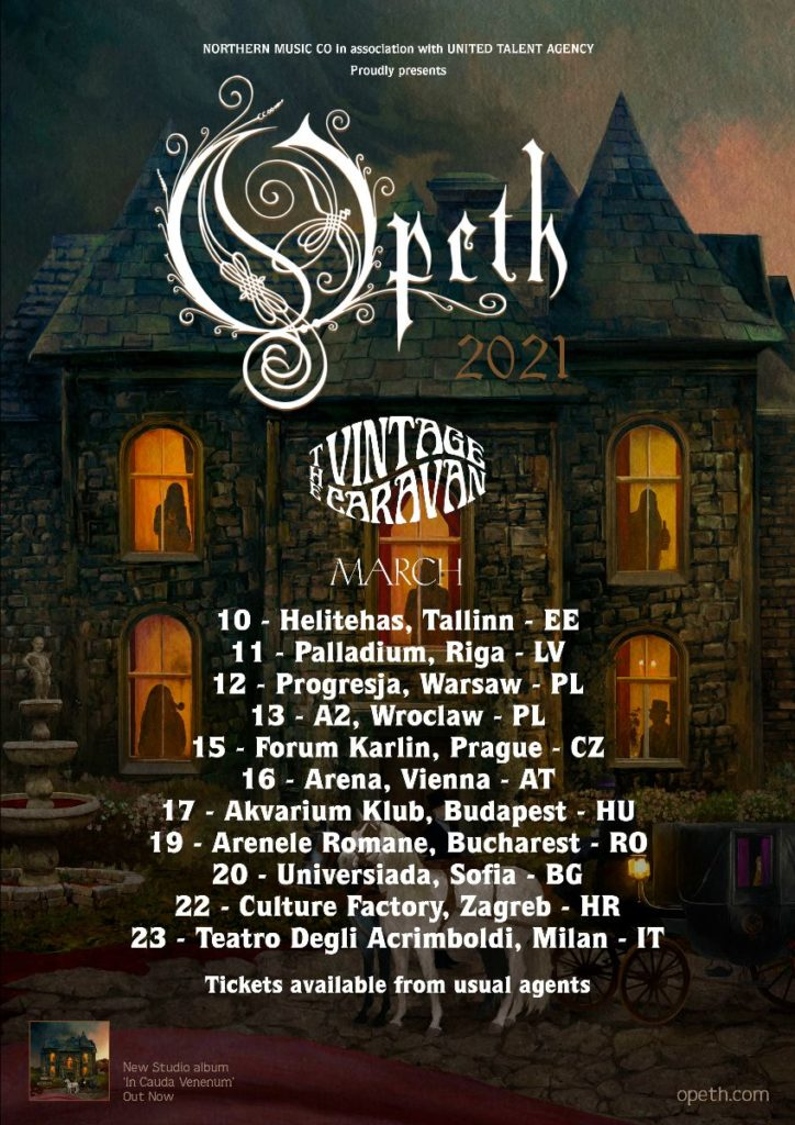 OPETH - In tour in Europa a marzo 2021