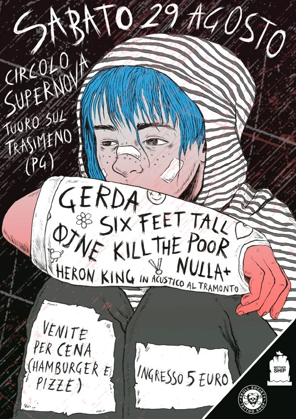 """SIX FEET TALL - Questo sabato il release show di """"Be Grave With Your Life"""""""