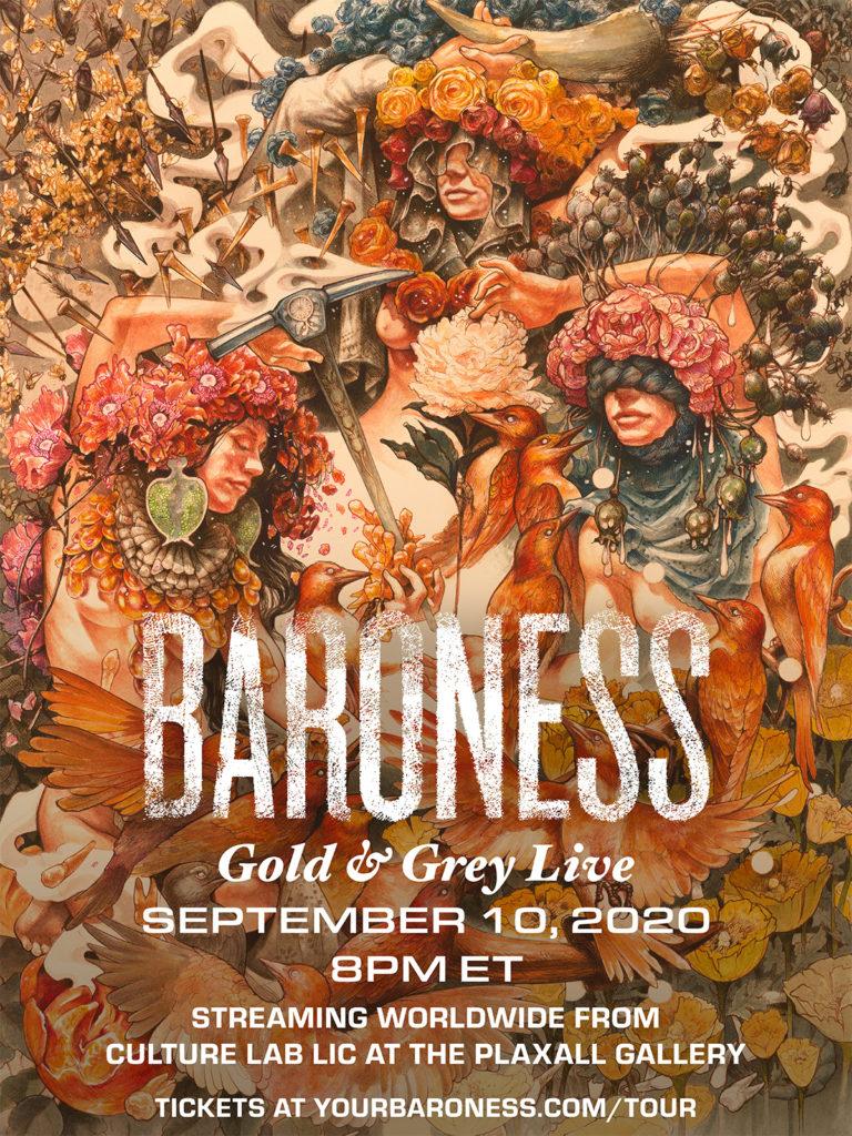 """BARONESS - Suonano """"Gold & Grey"""" per intero il 10 settembre in livestream"""