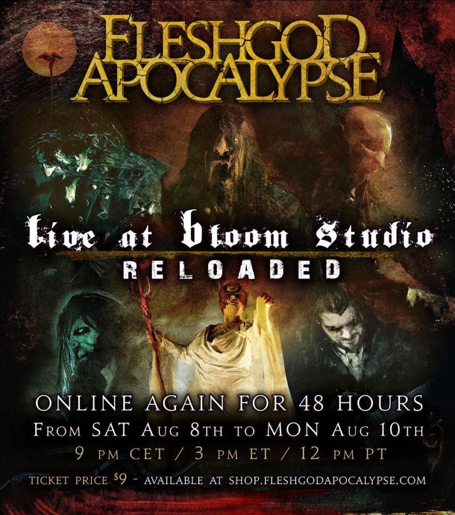 FLESHGOD APOCALYPSE - Il livestream torna online per 48 ore