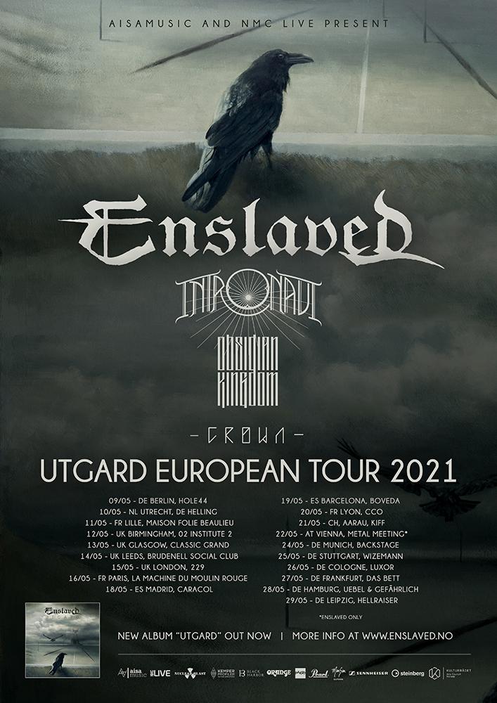 ENSLAVED - Annunciano le date del tour europeo del 2021