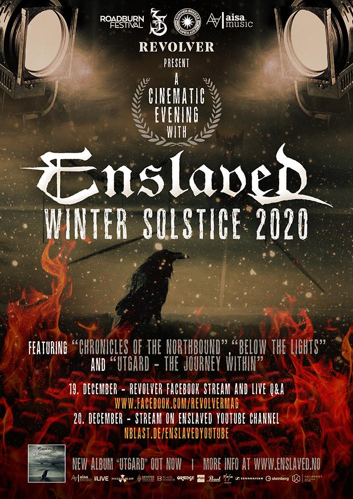 ENSLAVED – Celebrano il Sostizio d'Inverno con un evento in streaming