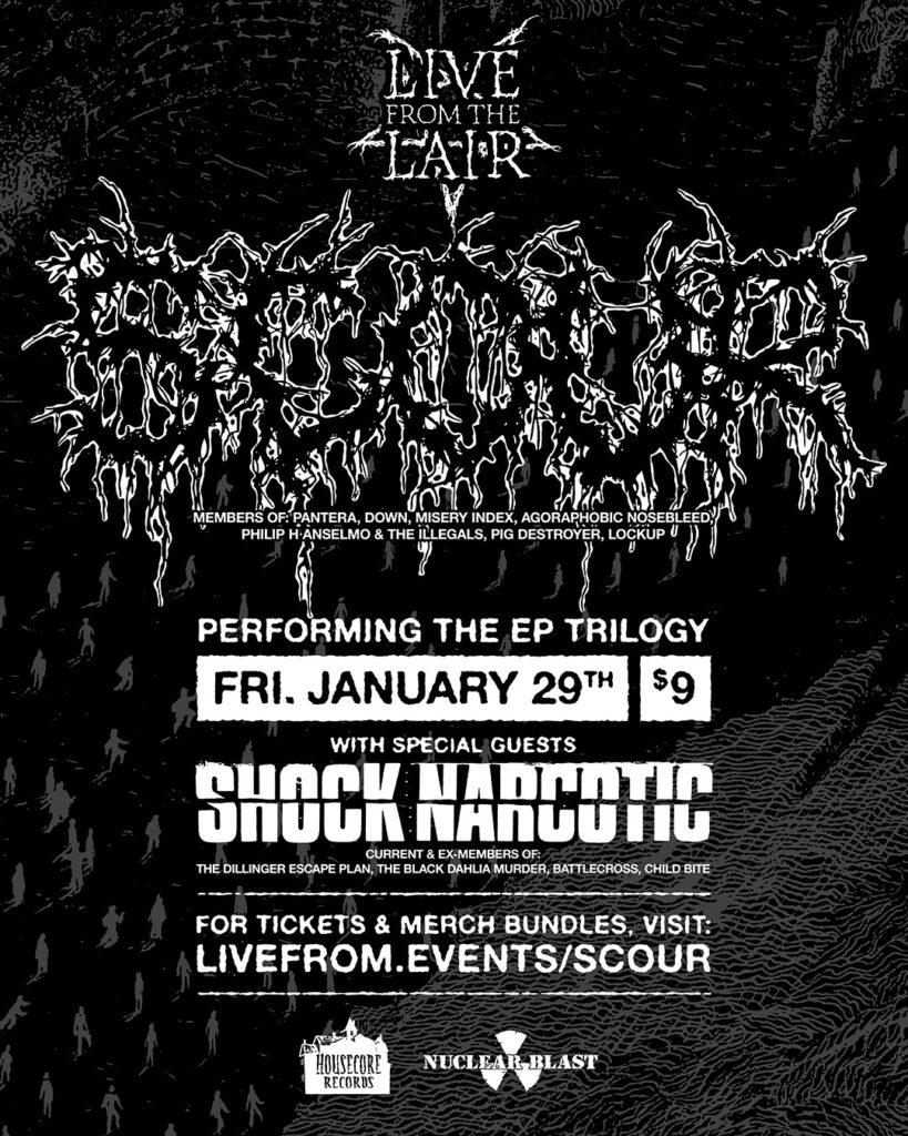 SCOUR – Il supergruppo di metal estremo guidato da Phil Anselmo annuncia un esclusivo concerto in streaming con ospiti