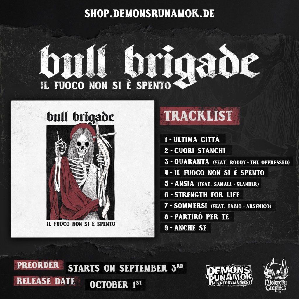 BULL BRIGADE - Ecco la copertina e la tracklist del nuovo album
