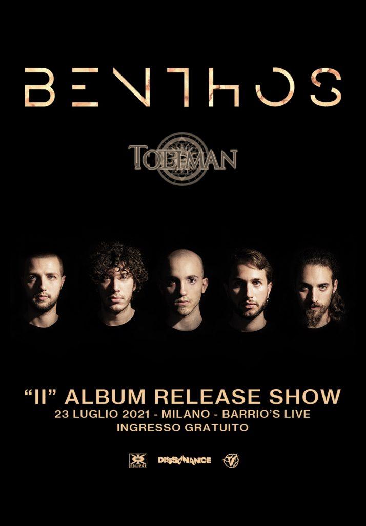 BENTHOS - Release show gratuito questo venerdì a Milano