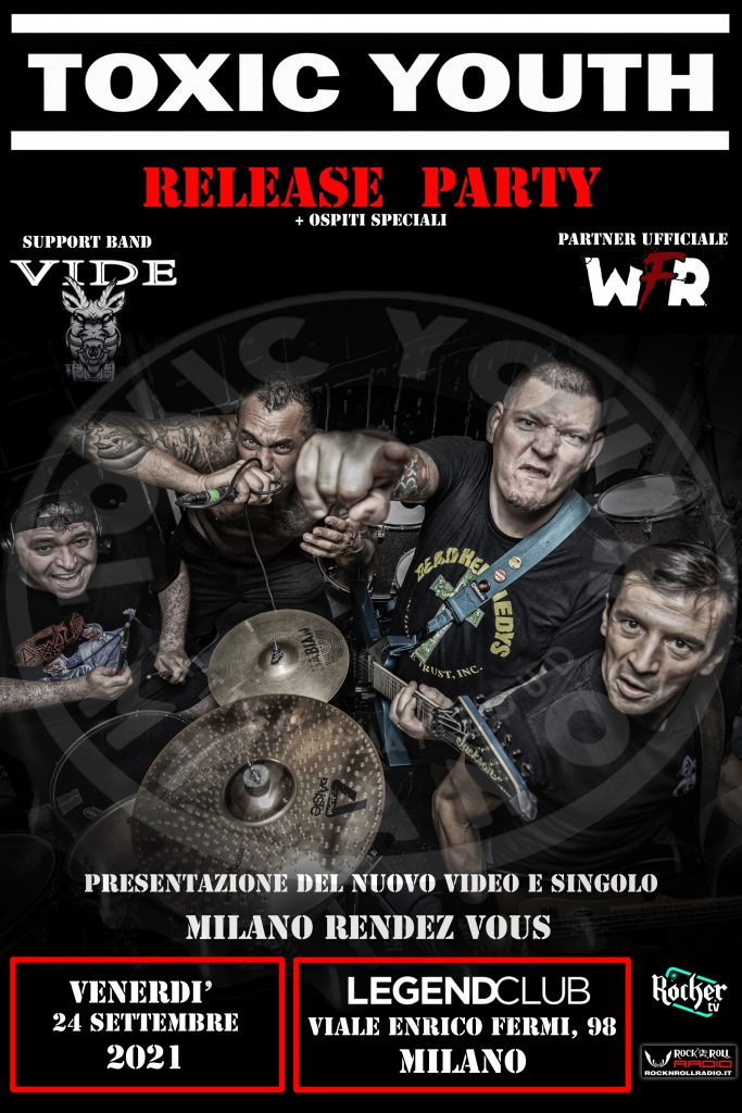TOXIC YOUTH - Release party il 24 settembre LEGEND CLUB Milano
