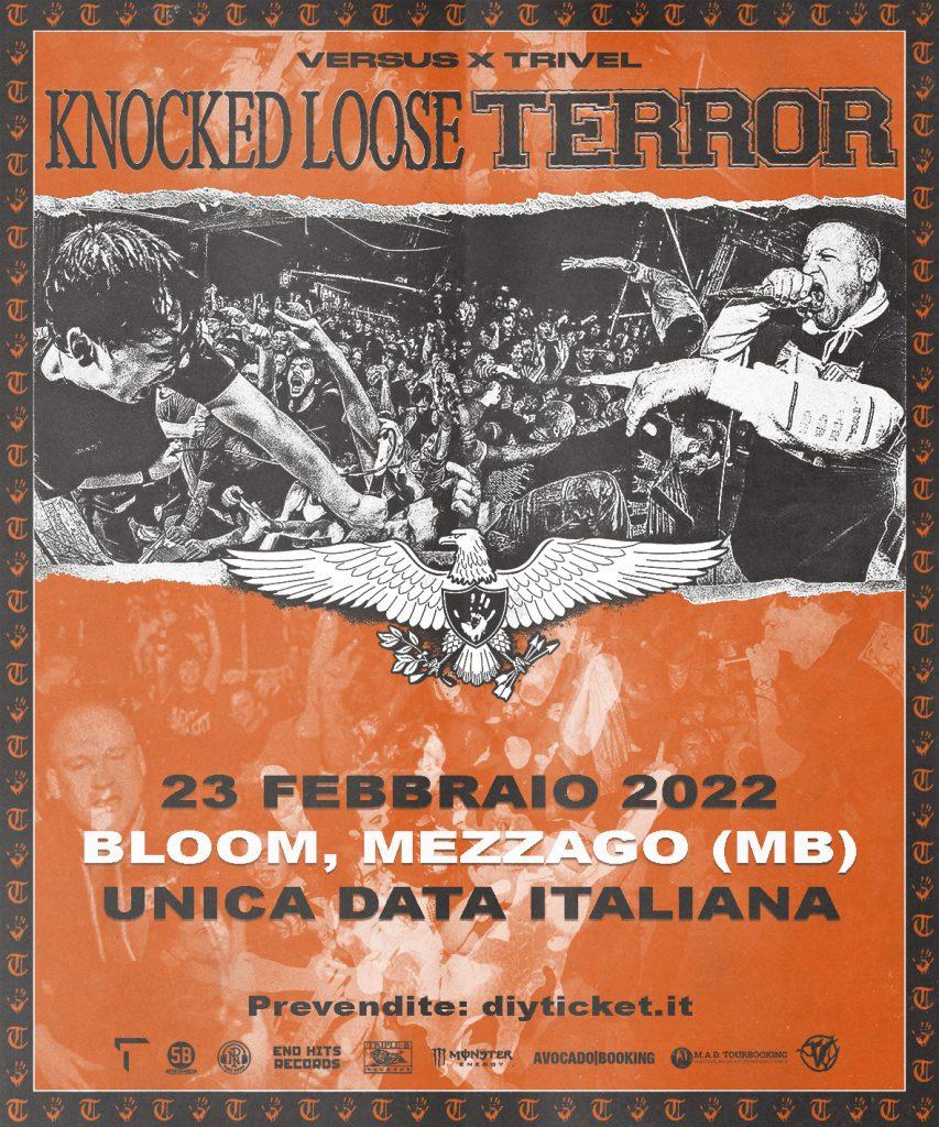 KNOCKED LOOSE + TERROR - Una data in Italia a Febbraio 2022!